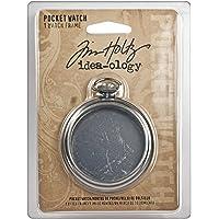 Tim Holtz Idea-ology Reloj de Bolsillo, Reloj de Bolsillo, 1 Unidad, Gold and Peach, 1
