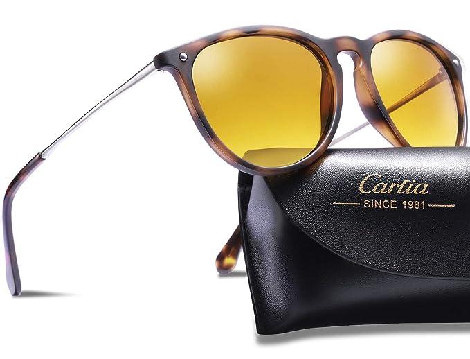 38d743f352 Carfia Gafas de Sol Hombre Mujer UV400 Protección Gafas de Sol Polarizadas:  Amazon.es: Ropa y accesorios