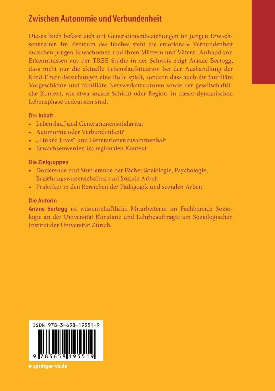 Zwischen Autonomie und Verbundenheit: Junge Erwachsene und ihre Eltern:  Amazon.de: Ariane Bertogg: Bücher