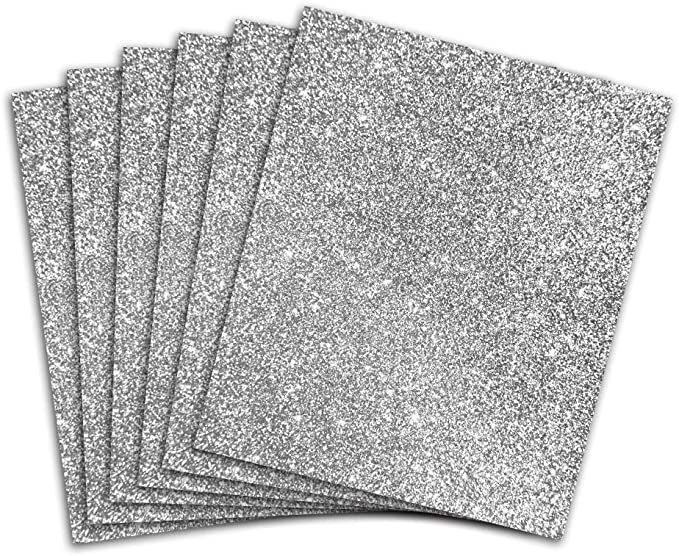 Transformonkey Glitter Heat Transfer Vinyl Bundle HTV Leopard Glitter assort 12/×10 Pack of 9 General Thickness, 5 Color
