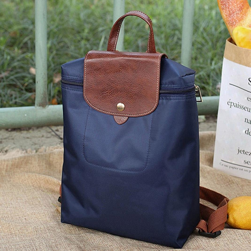 Balakie Leisure Travel Waterproof Daypack Women Nylon Zipper Backpack Folding Shoulder Bag