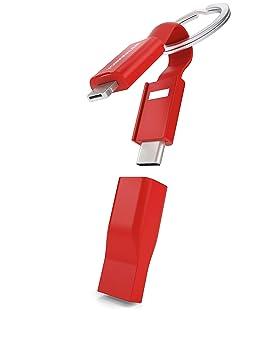 VONMÄHLEN High Five - Cable Múltiple 5 en 1 y Llavero - Cable magnético Micro-USB - Conector 2 en 1 - Adaptador USB-C y USB-A - Innovador Cable de ...