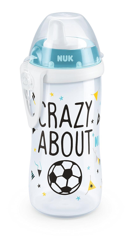 NUK 10255374 Kiddy Cup Fußball-Edition, harte Trinktülle, auslaufsicher, 300 ml harte Trinktülle