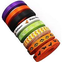 10 mm × 8 rollen, gedrukt grosgrain lint, Halloween Element patroon, spin gedrukt lint, singels handgemaakte DIY naaien…