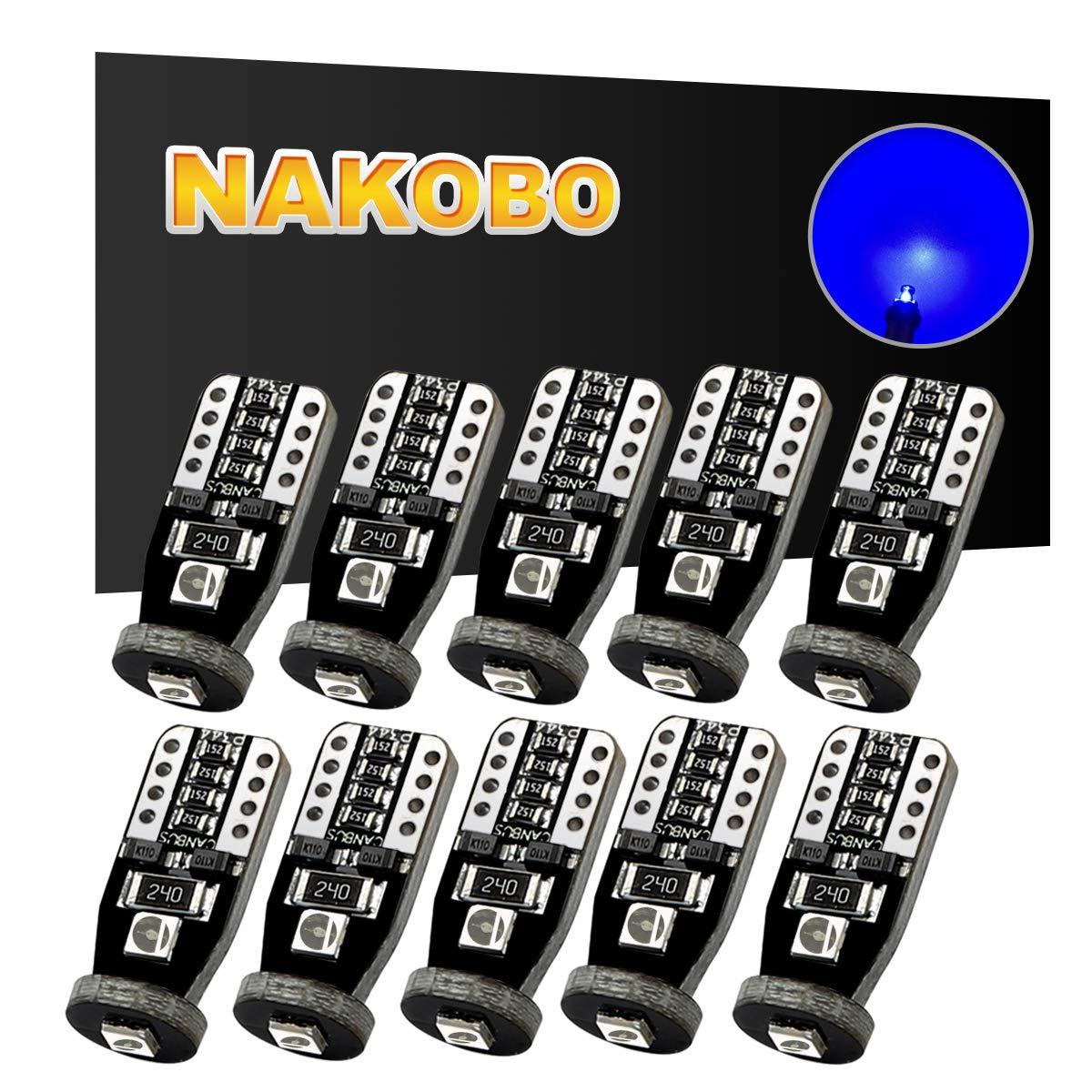 Nakobo 1500 Lumen 7443 7440 7441 7444NA T20Led Bulb for Brake Back up RV Tail Lights Smart IC 27SMD Newest 3030 Chips 12-24V Pure Red, Pack of 2