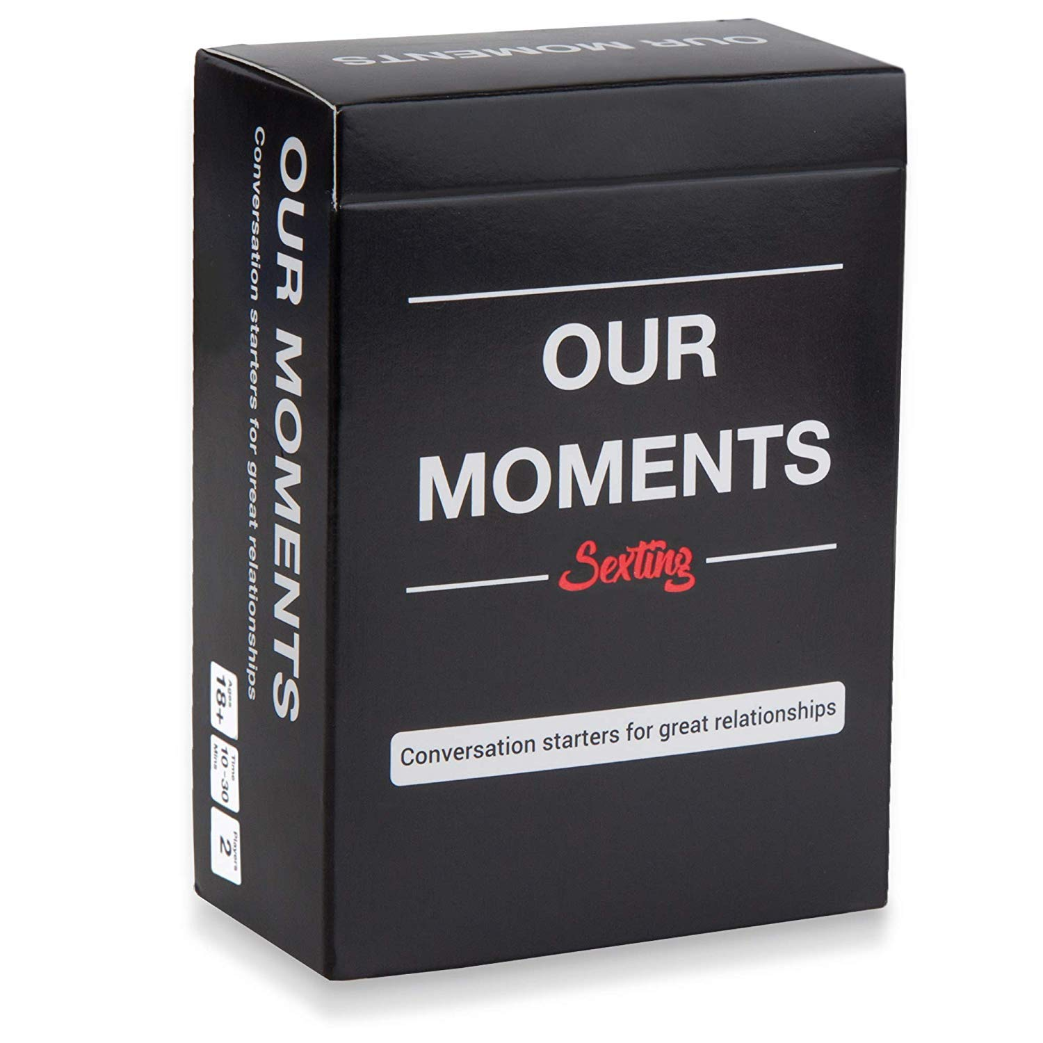 OUR MOMENTS Sexting: 100 Messages to Text to Your Partner to Spice Up Your Relationship with Fun Conversation Cards Game for Couples by OUR MOMENTS