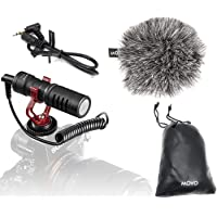Movo VXR10 Universal Video Microphone with Shock Mount, Deadcat Windscreen, Case for iPhone, Android Smartphones, Canon…