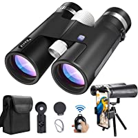 Binoculars for Adults with Universal Phone Adapter & Tripod 12x42 High Definition Super Bright Large View Binoculars for…