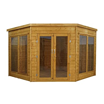 1878 9x9 Wooden Corner Garden Summerhouse Shiplap Construction - Dip Treated with  sc 1 st  Amazon UK & WALTONS EST. 1878 9x9 Wooden Corner Garden Summerhouse Shiplap ...