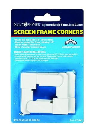 adfors screen frame corners 516 white - Window Screen Frame Corners