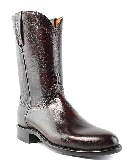f0e2c95ef3c Lucchese 1883 Men's Black Cherry Buffalo Roper Boot: Amazon.ca ...