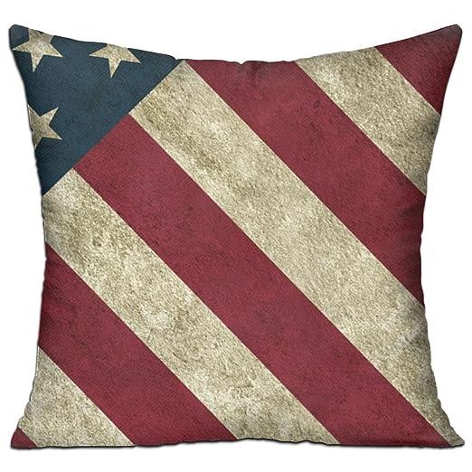 Vintage Patriótico bandera Americana almohada 18 (doble cara ...