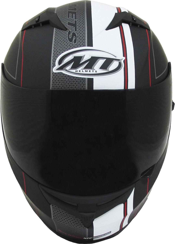 MT Blade SV Race Line Motorcycle Helmet M Matt Black Red
