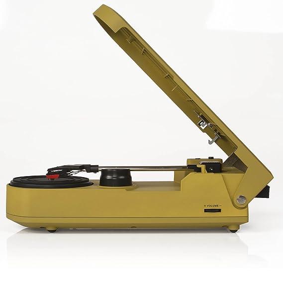 Amazon.com: Crosley cr6020 a-gr revolución Tocadiscos USB ...