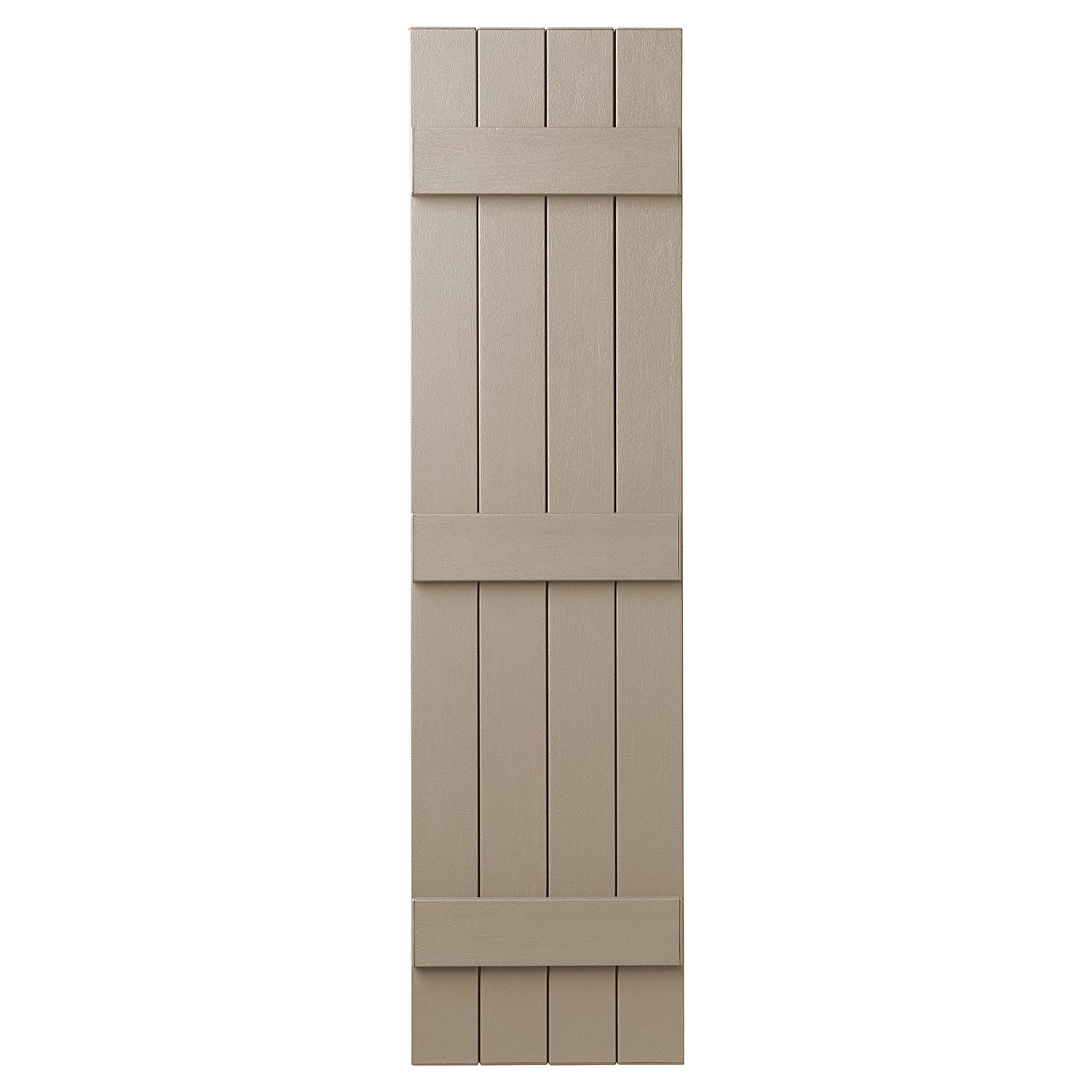 PlyGem Shutters and Accents VIN4C1559 52 4 Closed Board and Batten Shutter, Pebblestone Clay by PlyGem Shutters and Accents (Image #1)