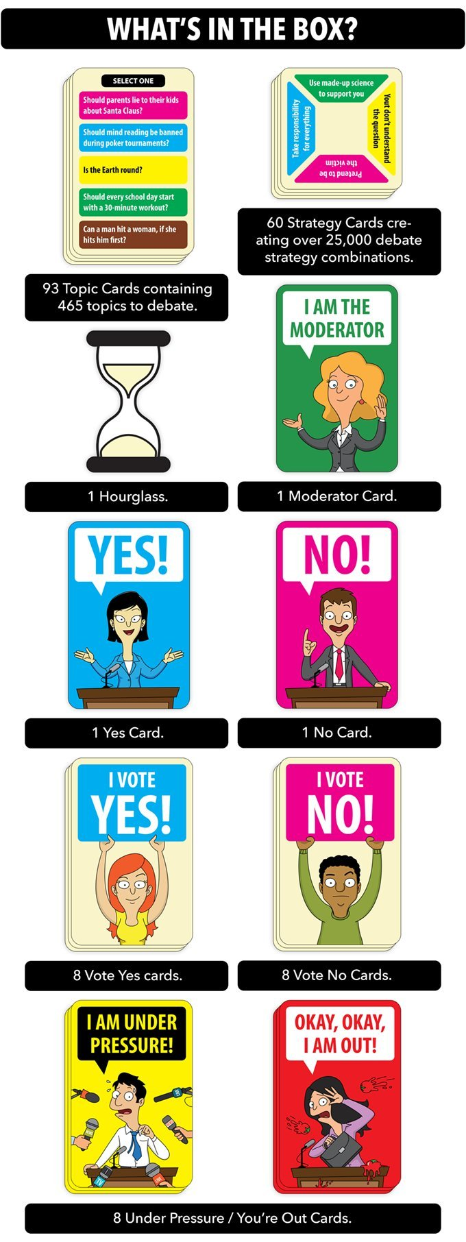 Mindmade Games Debatable - A hilarious party game for people who love to argue