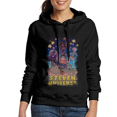 Steven Universe Womens Pullover Hooded Hoodie Sweatshirt Black