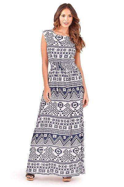 Dannii Matthews Damen Plissee Kleid, Aztekisch rosa rose: Amazon.de:  Bekleidung