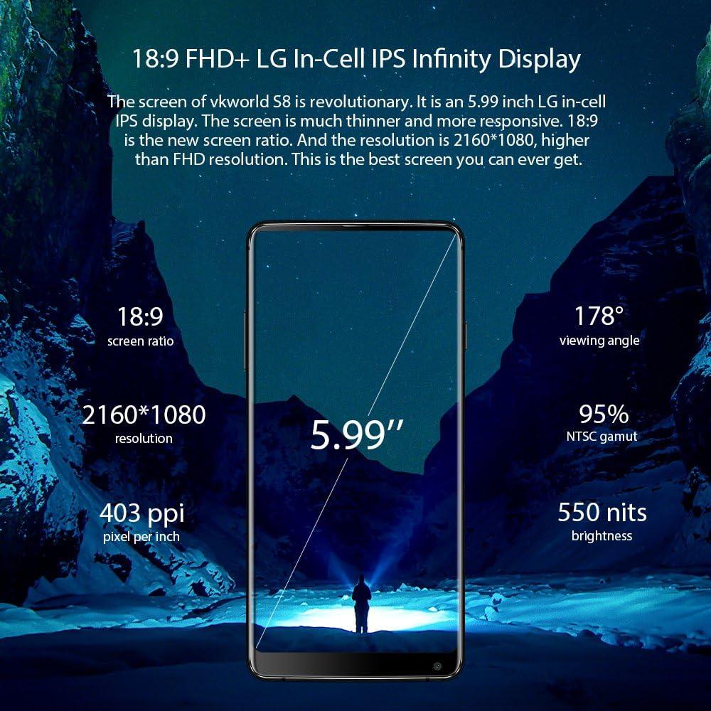 VKworld S8 - Smartphone Libre con Pantalla Completa de 5,99 ...