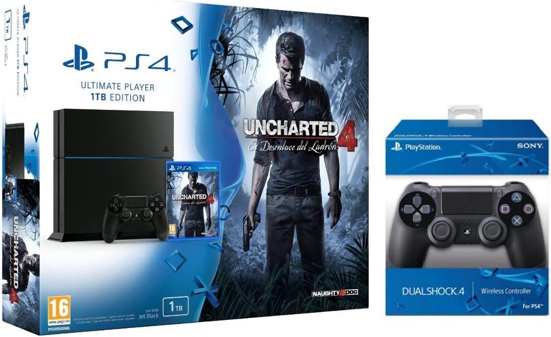 PlayStation 4 (PS4) - Consola 1 Tera + Uncharted 4 + Call Of Duty ...