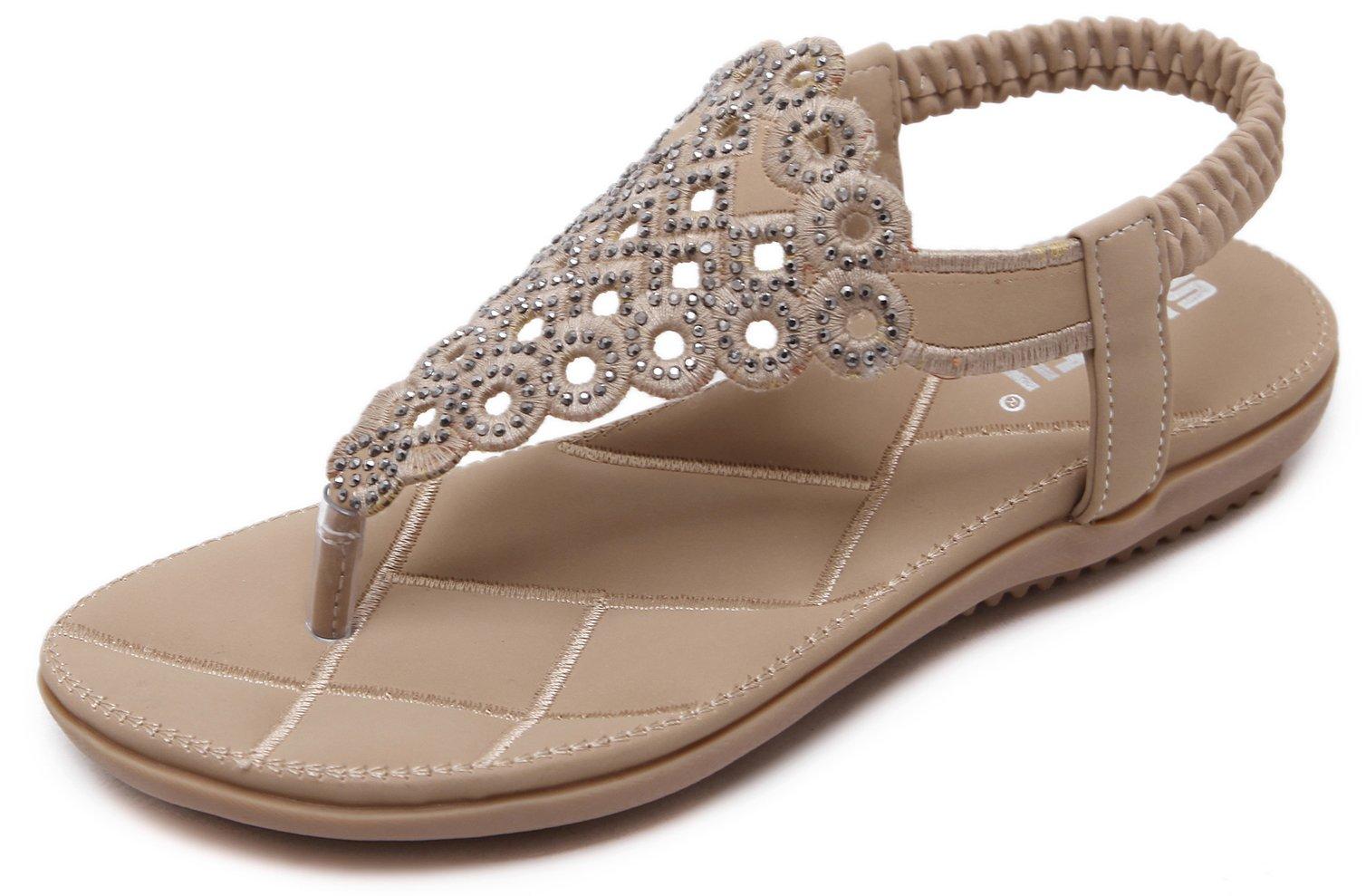 4ea1a4ae3de7 Women s Summer Blingbling Thong Flat Sandals