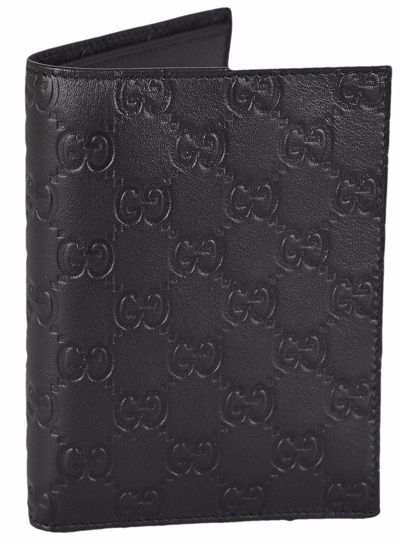 8188e79dbda4 Gucci Men's Black Leather GG Guccissima Passport Holder Bifold Wallet:  Amazon.ca: Clothing & Accessories