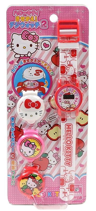 onoe Yorozu Hello Kitty reloj modificado del reloj digital de 2 blancas para los ni?
