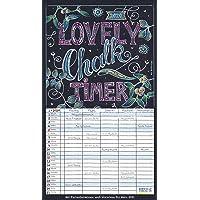 Lovely Chalk Timer 2020: Familienplaner mit 5 breiten Spalten. Typo-Art Familienkalender mit Ferienterminen, Zusatzspalte, Vorschau und vielem mehr.