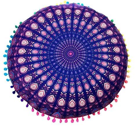 Xinantime Funda Cojines,Xinan Almohada de Bohemia Ronda Fundas India Mandala (Púrpura2)
