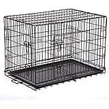 "BestPet 48"" Pet Kennel Cat Dog Folding Steel Crate Playpen Wire Metal Cage W/Divider"