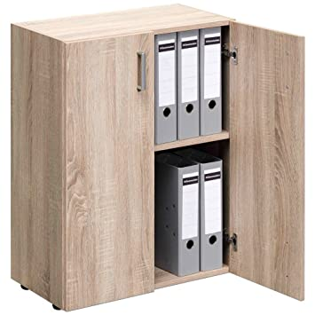 CS Schmal Trio Cupboard Storage Organizer Filing Cabinet Chest Of Drawers  Multi Purpose Shelf Shelving