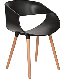 Ts Ideen 1x Design Stuhl Wohnzimmer Esstisch Küchen Esszimmer Sitz Schwarz  Holz Buche