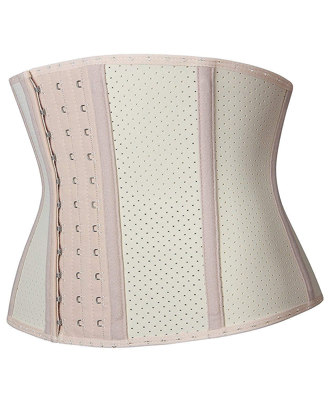 e5ec7cb91b YIANNA Women Latex Short Torso Waist Trainer Corset Workout Slimming Body  Shaper  Amazon.co.uk  Clothing