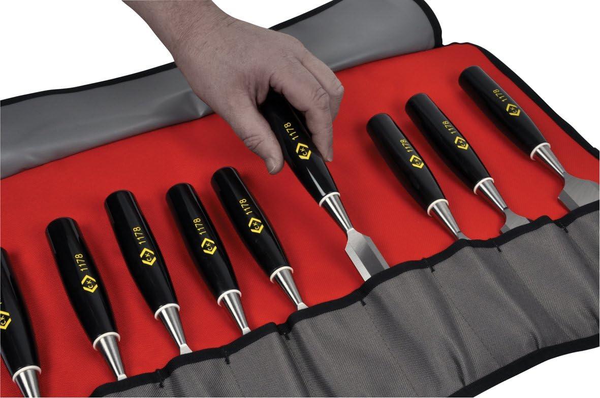 Nouveau CK OUTILS MAGMA MA2719 Rembourré Chisel Roll-peut contenir jusqu/'à 9 Ciseaux à bois
