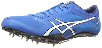 ASICS Men's Sonissprint Elite Track Shoe,Blue/White/Black,11.5 ...