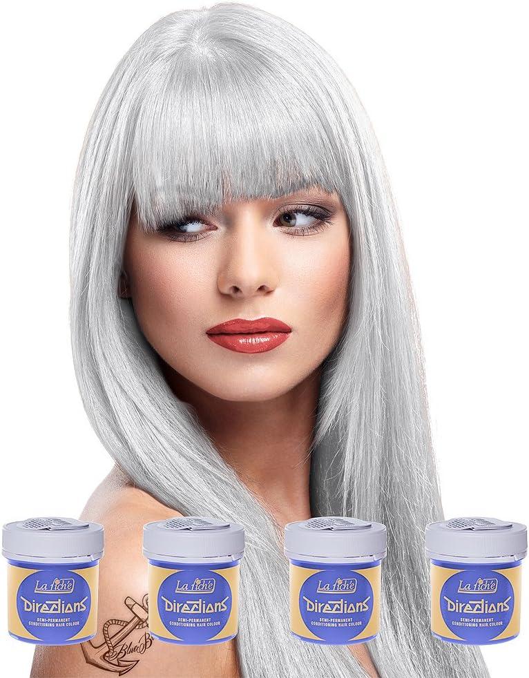Pack 4x Tinte Capilar La Riche Directions Colour (White) + GRATIS Estuche Blue Banana Sugar Skull