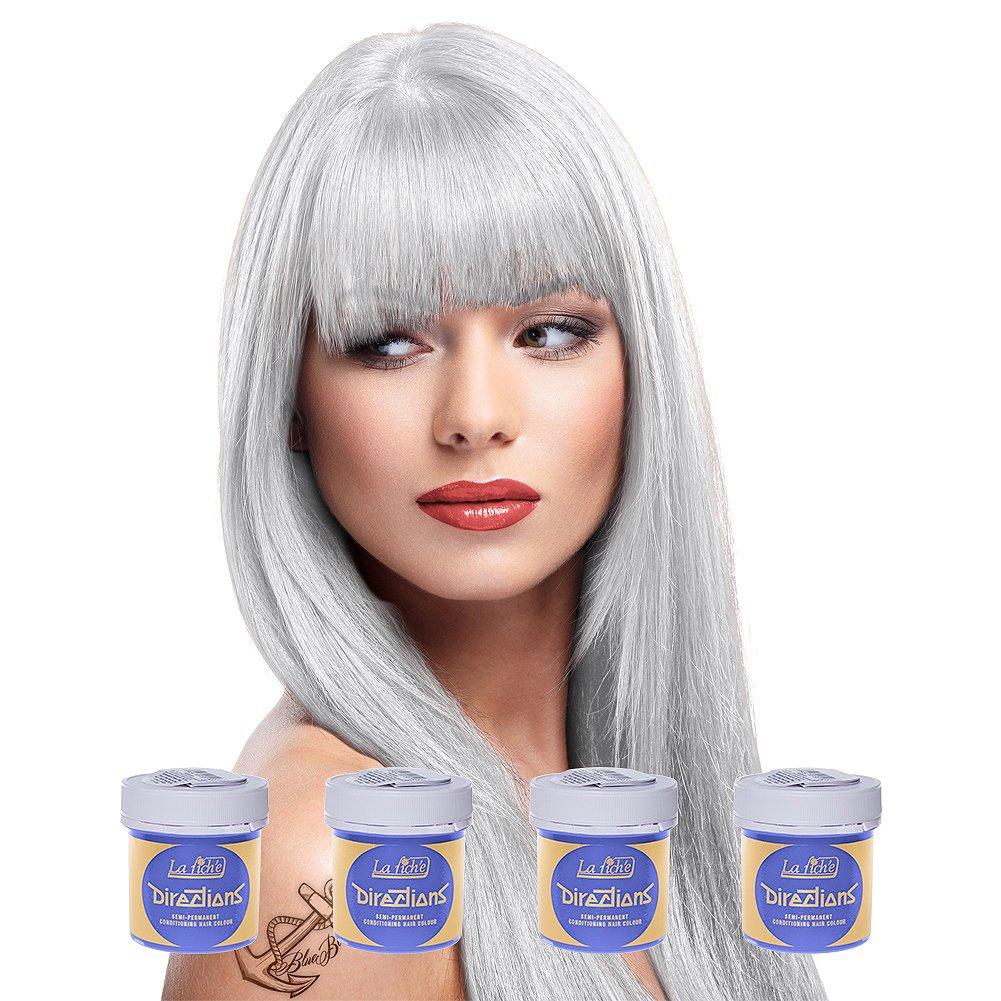 Amazon 4 X La Riche Directions Semi Perm Hair Colour Silver
