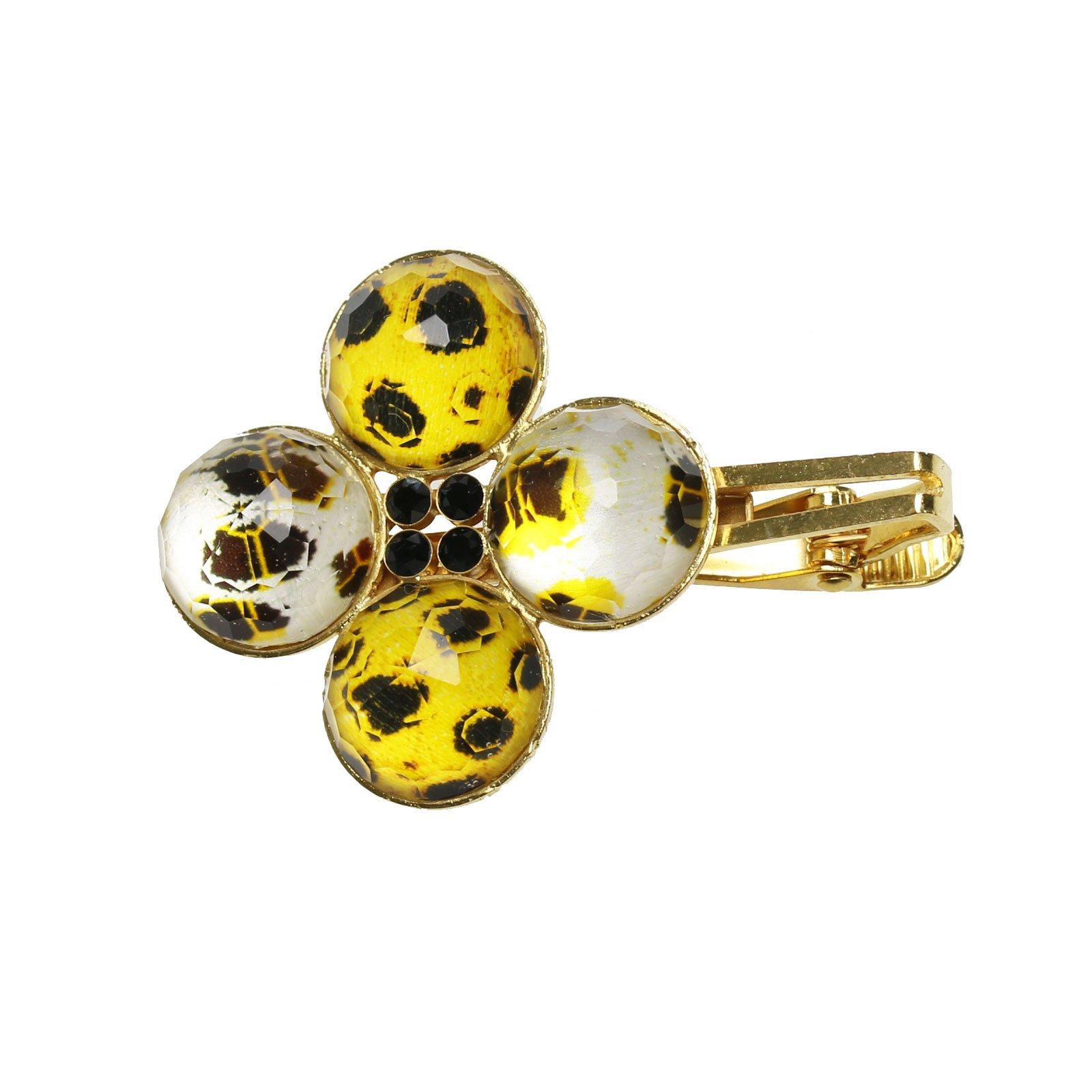 Tamarusan Shawl Clip Stole Clip Cheetah Tiger Cat Gold Brooch