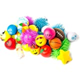 Nelijoe Stress Ball and Puffer Squeeze Toys, Assortment 12-Pack