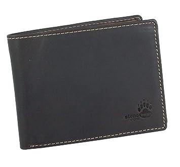 edb2deedb931c Herrengeldbörse RFID Geldbörse RFID NFC Schutz CRYPTALLOY Geldbeutel Herren  braun Querformat Leder RFID Blocking Abschirmung