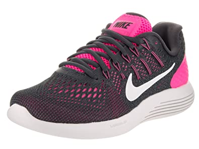 the best attitude c6c1b b37ce Nike Lunarglide 8 Pink Blast Anthracite Cool Grey Summit White Womens  Running Shoes