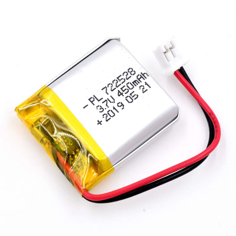 Bateria Lipo 3.7V 450mAh 722528 Recargable JST Conector