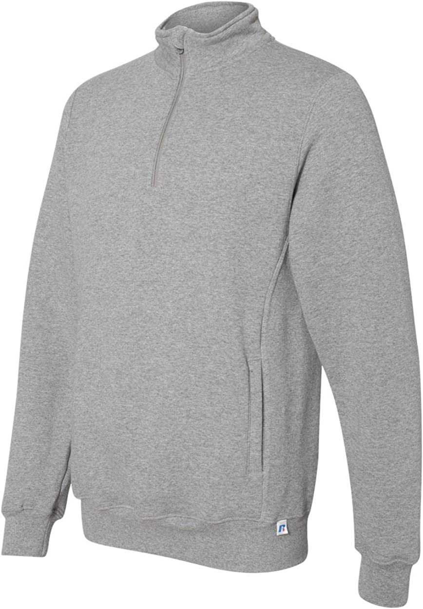 Russell Athletic Mens Mens Dri-Power Fleece 1//4 Zip Cadet Sweatshirt