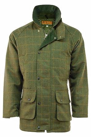 Mens Derby Tweed Jacket Coat Outdoor Waterproof Fishing Hunting At