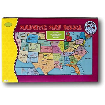 Amazon.com: Magnetic Puzzle Map USA, United States: Toys & Games