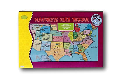 Amazoncom Magnetic Puzzle Map Usa United States Toys Games - Puzzle-us-map