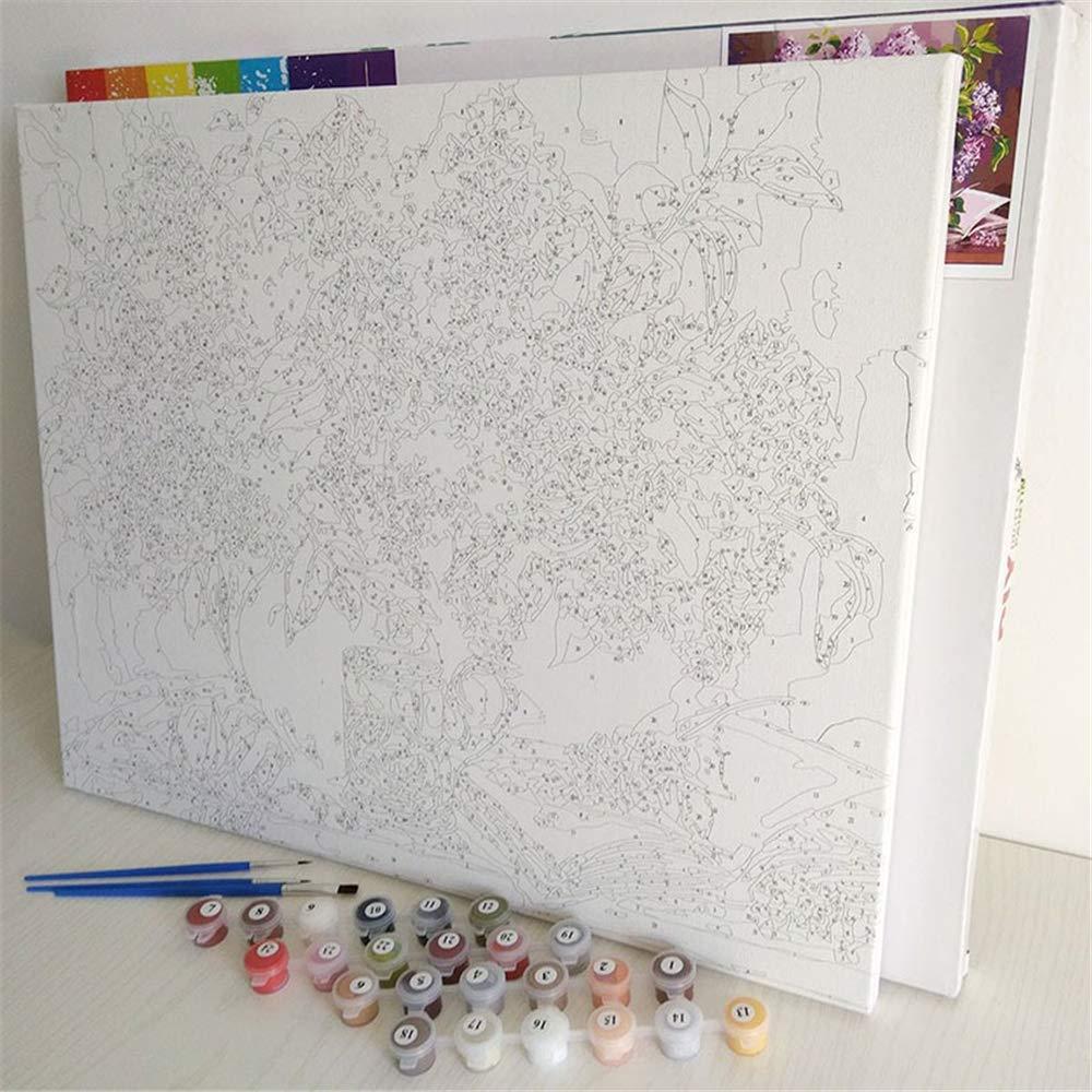 WSCZD Paisaje de la Ciudad de Europa DIY Pintura por Nmubers Kit Pintura acr/ílica en Lienzo Pared Arte Imagen para Sala de Estar Ilustraciones//Sin Marco