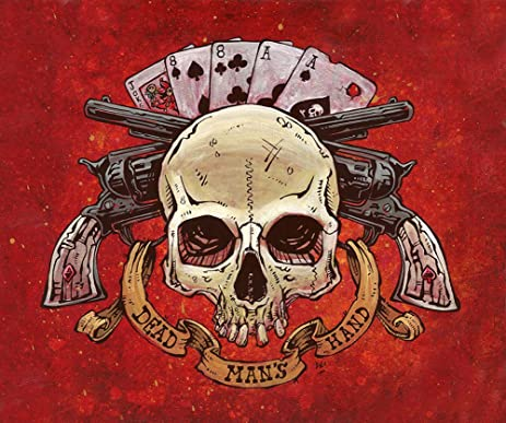 Amazon dead mans hand by david lozeau skull revolver poker dead mans hand by david lozeau skull revolver poker cards canvas art print voltagebd Gallery