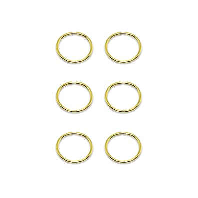 Mini Creolen Ohrringe 585 Gold 14 Kt Gelbgold für Damen /& Teenager Neu