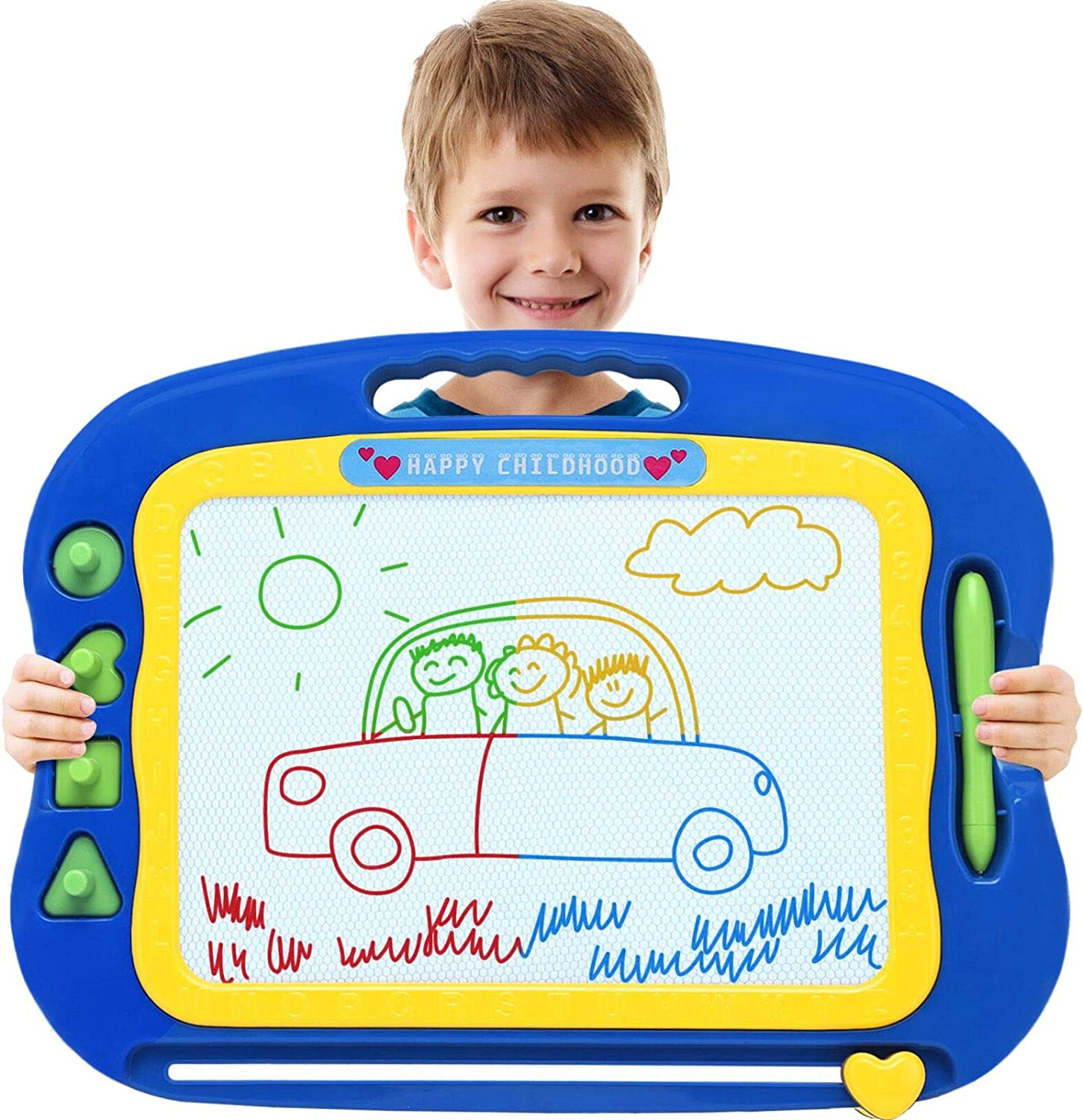 Magnetic Drawing Board,Large Doodle Board Toddler Toys for Girls Boys 3 4 5 6 7 Year Old Kids Gift Etch A Colorful Sketch Magnet Erasable Pad
